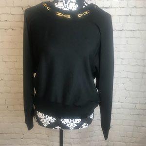Jones New York Black Silk Blend Shirt Size Medium